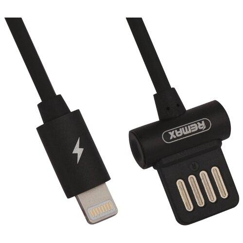 Кабель Remax Waist Drum USB - Apple Lightning (RC-082i) 1 м черныйКомпьютерные кабели, разъемы, переходники<br>