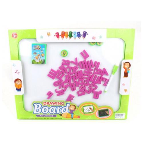 Купить Доска для рисования детская Наша игрушка с набором букв и цифр (28046E-1) зеленый, Доски и мольберты