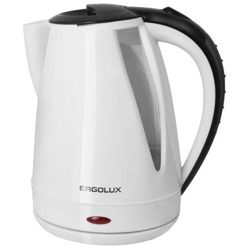 Чайник Ergolux ELX-KP02, белый/черный весы ergolux elx sk03 c02 black