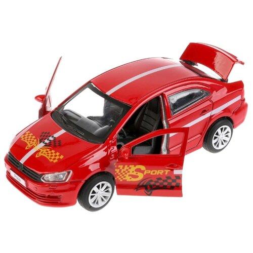 Легковой автомобиль ТЕХНОПАРК Volkswagen Polo Спорт (POLO-S) 12 см красный, Машинки и техника  - купить со скидкой