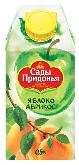 Сок Сады Придонья Яблоко-Абрикос, с крышкой, без сахара, 0.5 л