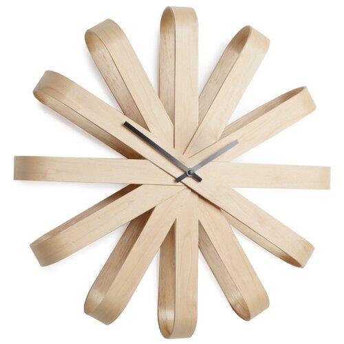 Часы настенные кварцевые Umbra Ribbon 118070 дерево umbra настенные часы 35 см numbra 118430 040