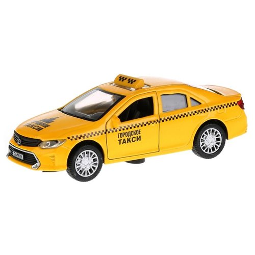 Купить Легковой автомобиль ТЕХНОПАРК Toyota Camry Такси (CAMRY-T) 12 см желтый, Машинки и техника