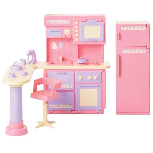 Купить ОГОНЁК Кухня Маленькая принцесса (С-1436/С-1437/С-1438) розовый, Мебель для кукол