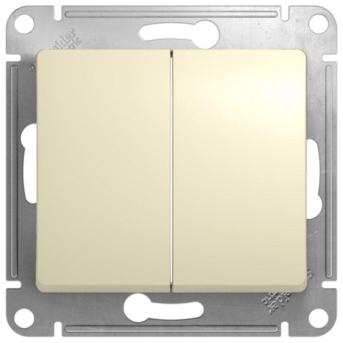Выключатель 2х1-полюсный Schneider Electric GLOSSA GSL000251, 10А , бежевый