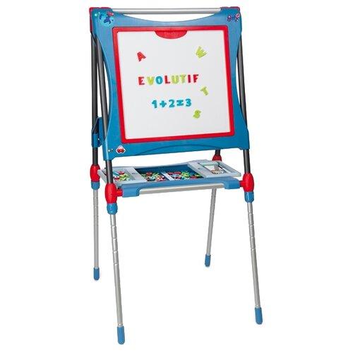 Купить Мольберт детский Smoby трансформер (410202/410203) синий, Доски и мольберты