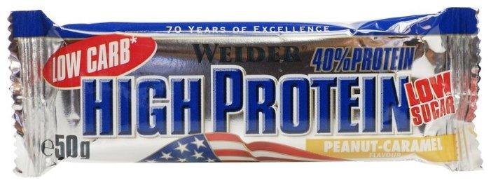 Weider протеиновый батончик 40% Low Carb (50 г)(1 шт.)
