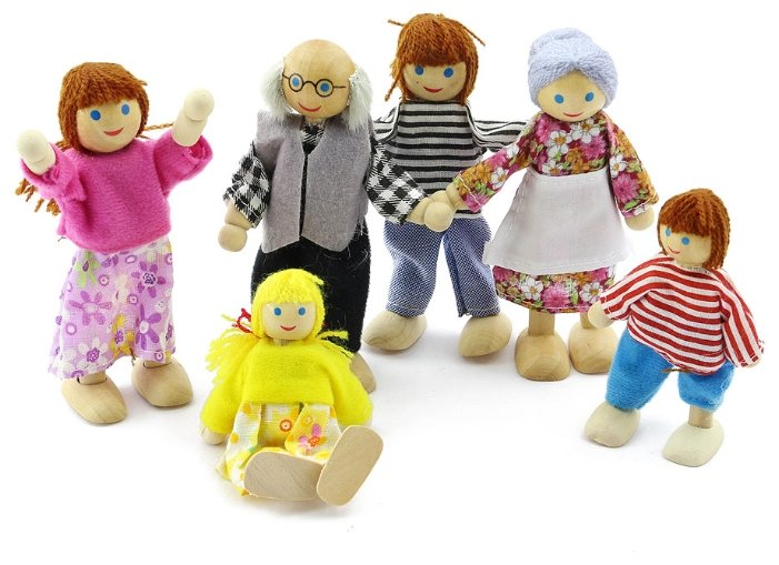 Игровой набор Мир деревянных игрушек Набор кукол Д276