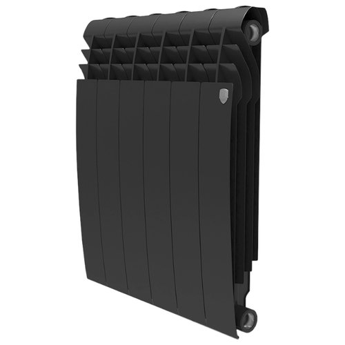 Радиатор секционный биметаллический Royal Thermo BiLiner 500 x12 теплоотдача 1332 Вт, 12 секций, подключение универсальное боковое Noir Sable