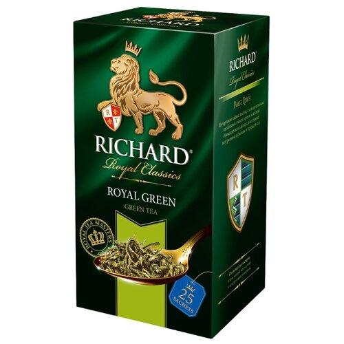 Чай зеленый Richard Royal green в пакетиках , 50 г , 25 шт. чай листовой richard royal ceylon dogs