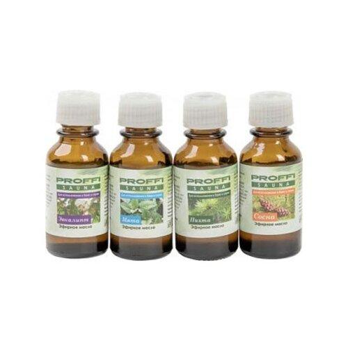 PROFFI набор ароматических масел Пихта, мята, эвкалипт, сосна 60 млЭфирные масла<br>
