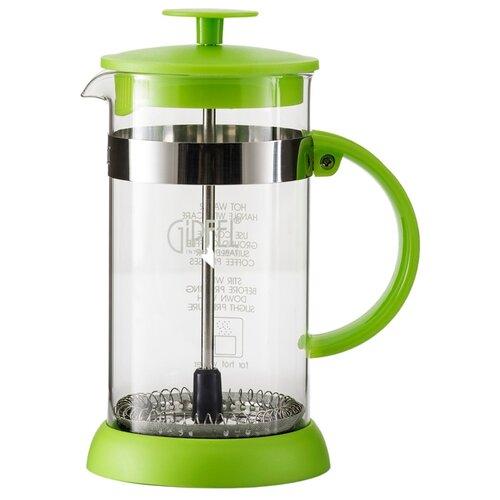 Френч-пресс GIPFEL Luminossi 7137 (0,35 л) зеленый френч пресс gipfel luminossi 0 8 л фиолетовый