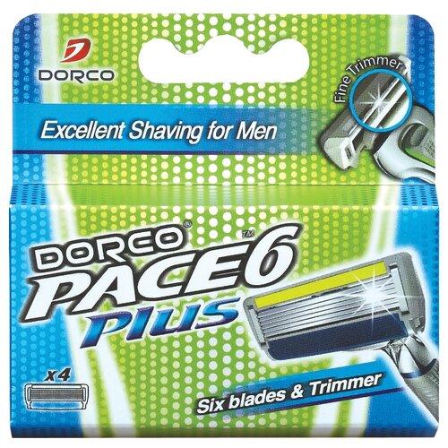 Сменные лезвия Dorco Pace 6 Plus , 4 шт.Бритвы и лезвия<br>