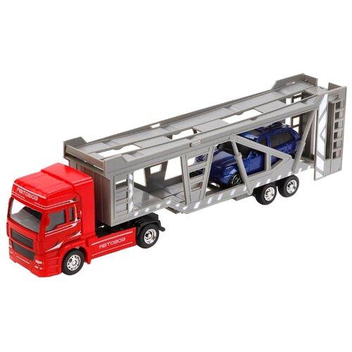 Купить Набор машин ТЕХНОПАРК 1011-R 32 см красный/серый/синий, Машинки и техника