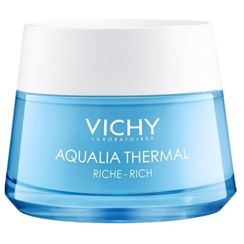Vichy Aqualia Thermal Riche - Rich крем увлажняющий насыщенный для сухой и очень сухой кожи лица, 50 мл vichy aqualia thermal увлажняющая сыворотка для всех типов кожи лица 30 мл
