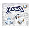Туалетная бумага Familia Plus белая двухслойная