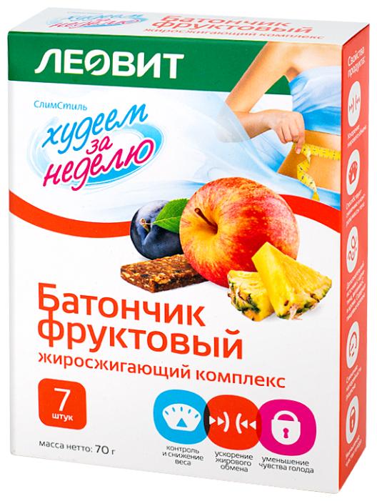 Худеем за неделю Батончик, 70гх7 фруктов. жиросжиг. комплекс