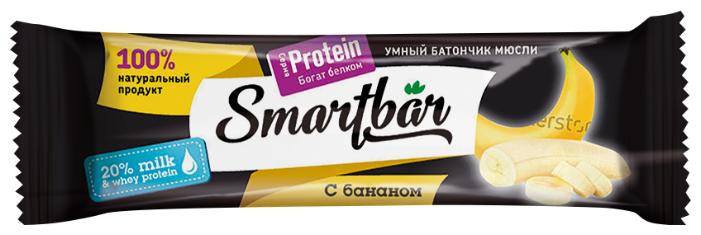 Протеиновый батончик Smartbar Protein в темной глазури с бананом, 40 г