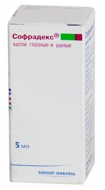 Софрадекс капли гл/ушн 5мл №1