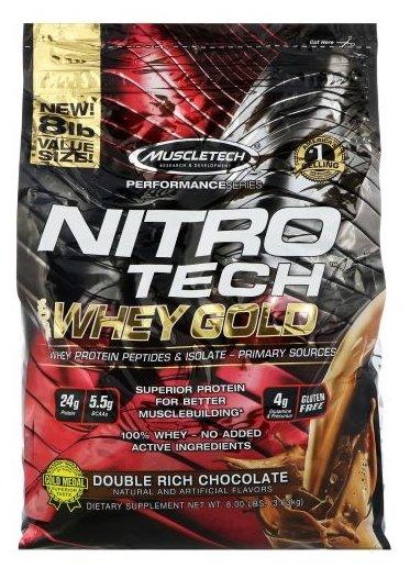 Протеин MuscleTech Nitro Tech 100% Whey Gold (3.63 кг)