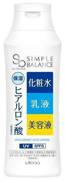Utena Лосьон-молочко Simple Balance 3в1 с эффектом UV-защиты SPF 5 с тремя видами гиалуроновой кислоты