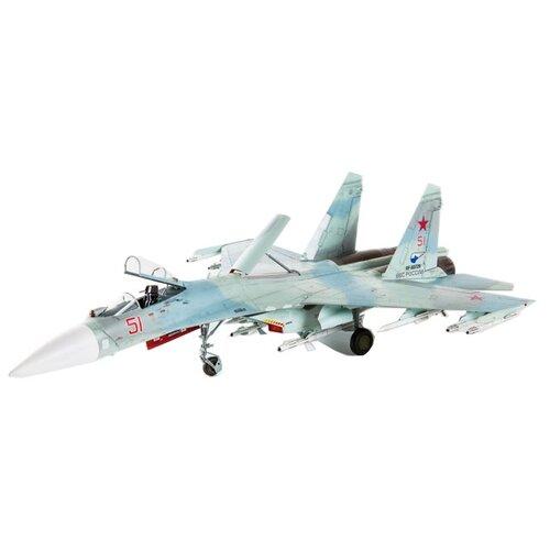 Сборная модель ZVEZDA Российский многоцелевой истребитель завоевания превосходства в воздухе Су-27СМ (7295) 1:72Сборные модели<br>
