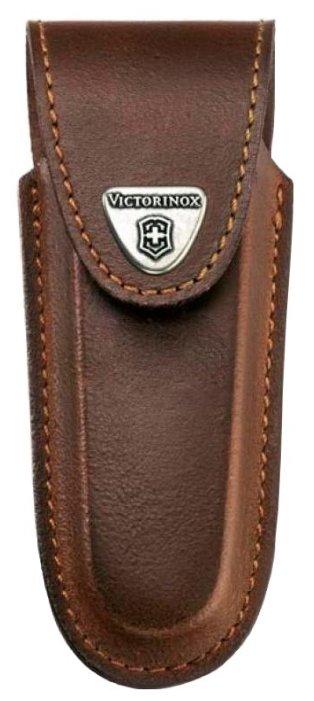 Чехол для складных ножей Victorinox 4.0537, рукоять 111 мм 2-3 уровня, натуральная кожа, цвет коричневый, крепление на пояс, Victorinox (Викторинокс)
