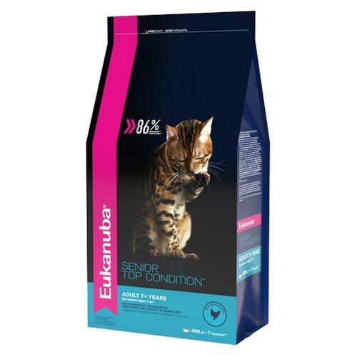 Корм для кошек Eukanuba (0.4 кг) Senior Dry Cat Food Top Condition 7+ Chicken & LiverКорма для кошек<br>