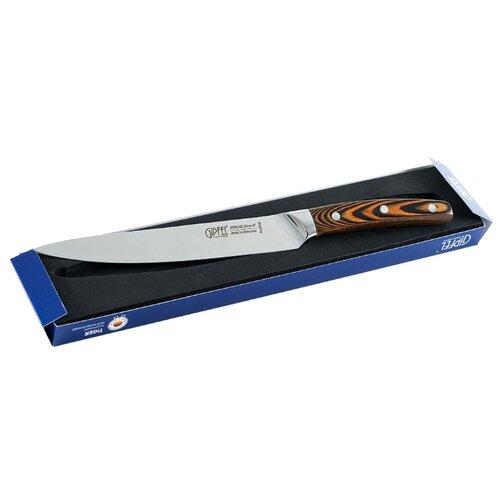 gipfel нож разделочный colombo 20 см коричневый GIPFEL Нож разделочный Tiger 20 см серебристый/коричневый