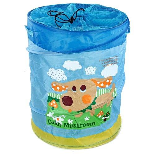 Фото - Корзина Наша игрушка Дружок 38х46 см (10033-2) голубой товары для праздника наша игрушка вертушка цветочек с липестками 35 см
