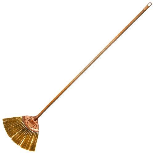Щетка HomeQueen Веер для сухой уборки пола коричневый
