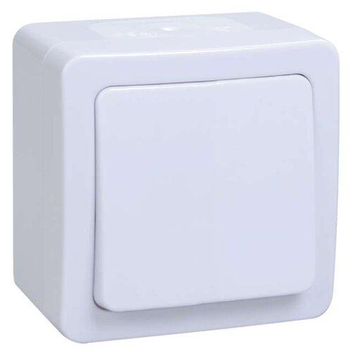 Выключатель 1-полюсныйвыключатель / переключатель IEK ГЕРМЕС PLUS EVMP12-K01-10-54-EC,10А, белыйРозетки, выключатели и рамки<br>