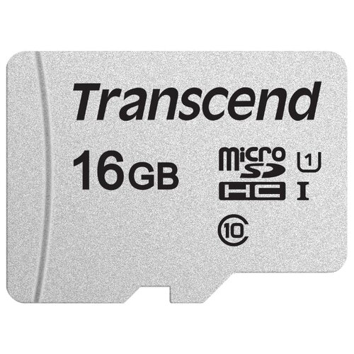 Фото - Карта памяти Transcend microSDHC 300S Class 10 UHS-I U1 16GB (TS16GUSD300S) карта памяти 16gb transcend high capacity ultimate class 10 secure digital ts16gsdhc10