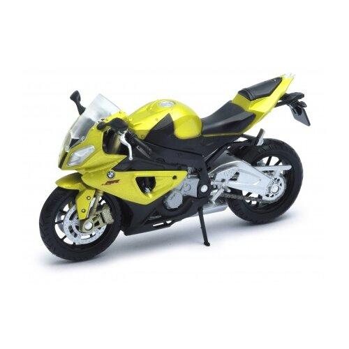 Купить Мотоцикл Welly BMW S1000RR (12810) 1:18 желтый/черный, Машинки и техника