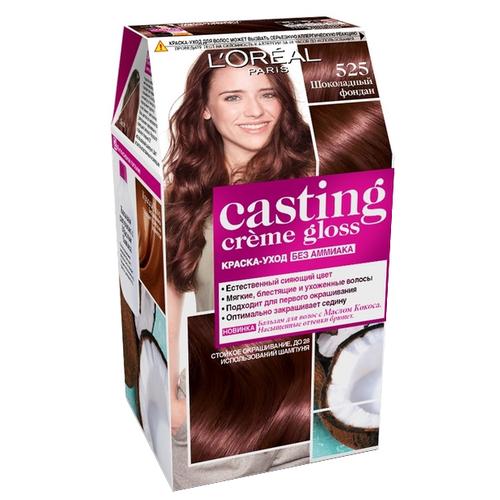 Купить L'Oreal Paris Casting Creme Gloss стойкая краска-уход для волос, 525, Шоколадный фондан