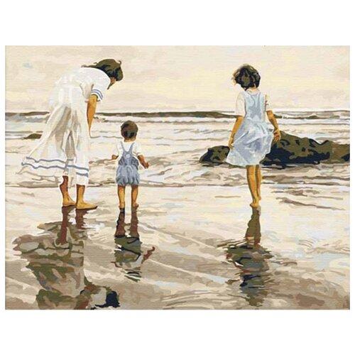 Купить Цветной Картина по номерам На берегу 40х50 см (MG006), Картины по номерам и контурам