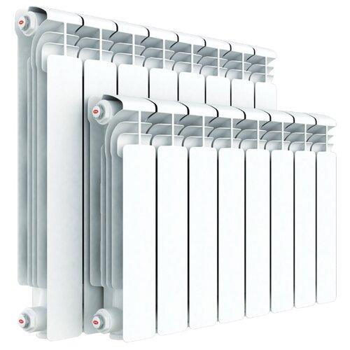 Радиатор секционный алюминий Rifar Alum 350 x8 теплоотдача 1112 Вт, подключение универсальное боковое RAL 9016