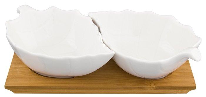 Elan gallery Блюдо сервировочное Лепестки, 2 шт. на подставке