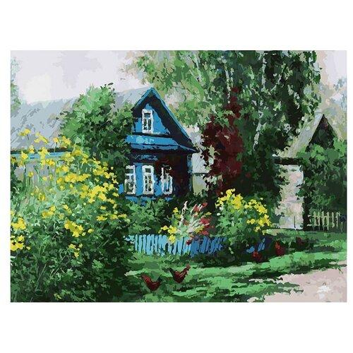 Купить Белоснежка Картина по номерам Домик в деревне 30х40 см (091-AS), Картины по номерам и контурам