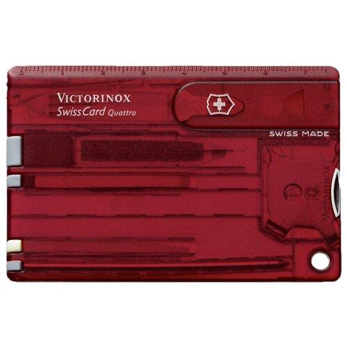 Швейцарская карточка Quattro VICTORINOX красныйСувенирные ножи и аксессуары<br>