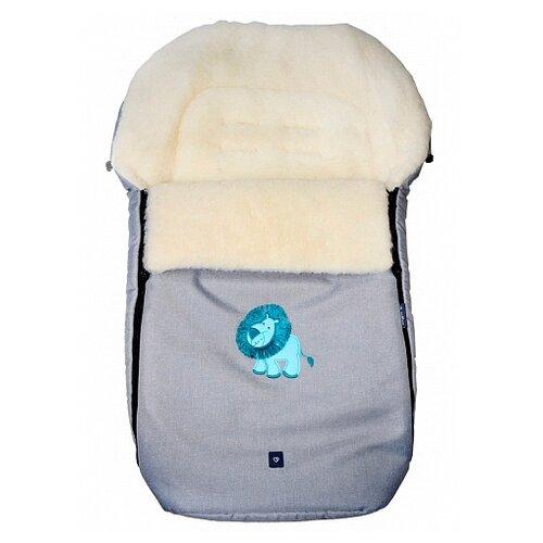 Купить Конверт-мешок Womar S77 Exlusive Lion melange fabric в коляску 95 см светло-серый, Конверты и спальные мешки
