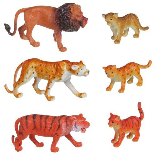 Купить Фигурки BONDIBON Ребятам о зверятах - Дикие животные с детёнышами ВВ1605, Игровые наборы и фигурки