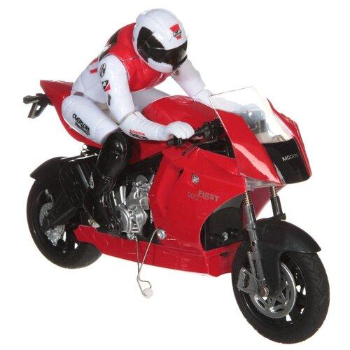 Купить Мотоцикл Zhorya Мотогонка (ZYC-0630-B4/B5) 18 см красный/белый, Радиоуправляемые игрушки