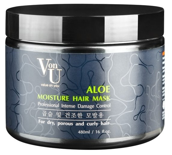 Von-U Маска для волос увлажняющая с алое вера Aloe Moisture Hair Mask