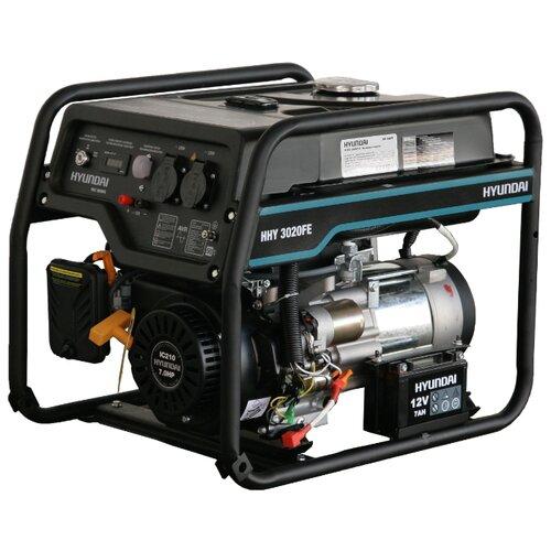 Бензиновый генератор Hyundai HHY 3020FE (2800 Вт) бензиновый генератор hyundai hhy 5020fe 230 в 4 5квт