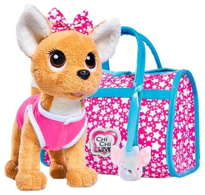 Simba Мягкая игрушка Собачка Звездный стиль с сумочкой 20 см