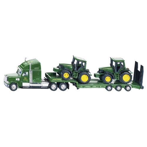 Фото - Набор машин Siku Тягач Farmer с тракторами John Deere (1837) 1:87 зеленый набор машин siku паром для