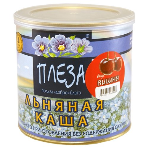 Фото - ПЛЕЗА Каша льняная вкус Вишня, 400 г наша льняная каша смородиновая 400 г