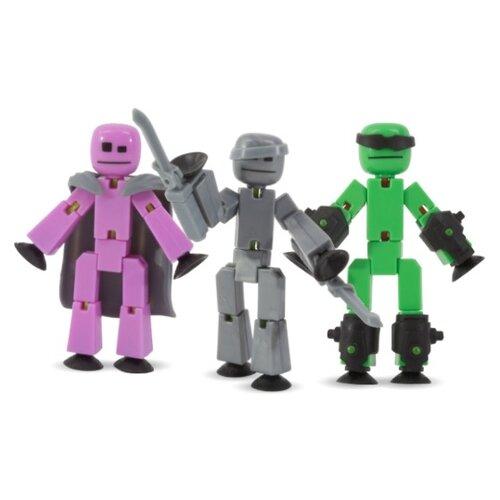 Игровой набор Zing Stikbot Off the Grid (Raptus, Shift and Regalius) TST614R zing игрушка zing stikbot мегадино