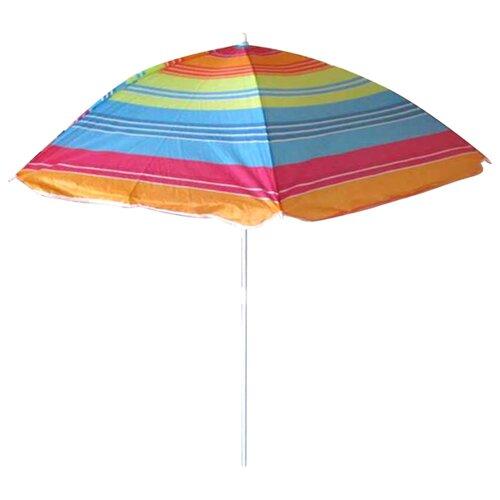 Пляжный зонт ECOS BU-02 купол 140 см, высота 155 см синий/красныйЗонты от солнца<br>